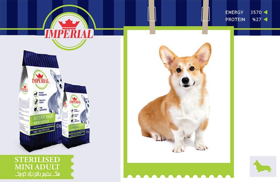 غذای سگ عقیم بالغ نژاد کوچک امپریال
