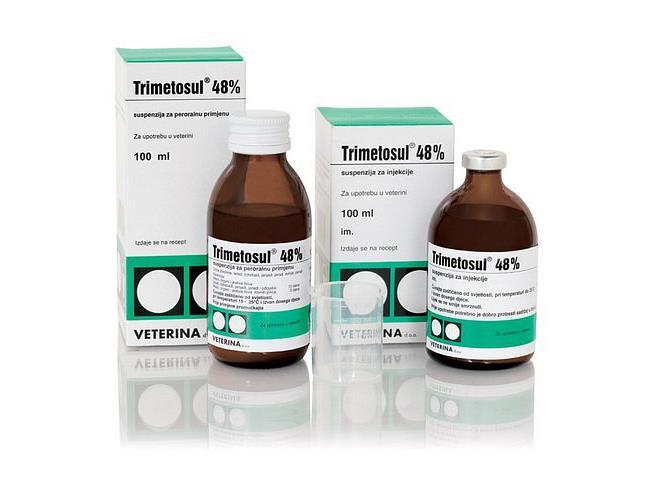سولفادیازین + تری متوپریم، تری متاسول 48%