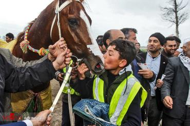 برنده مسابقه اسب دوانی گنبد کاووس