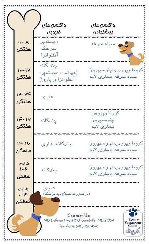 برنامه واکسیناسیون سگ