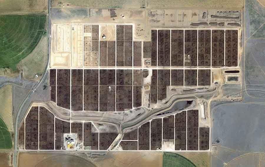 عکس هوایی از دامداری