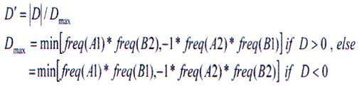 جهت محاسبه D، مقدار D بهوسیله حداکثر مقدار آن استاندارد میشود