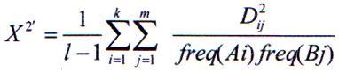 مقدار x2 را برای نشانگرهای چند آللی پیشنهاد نمودند