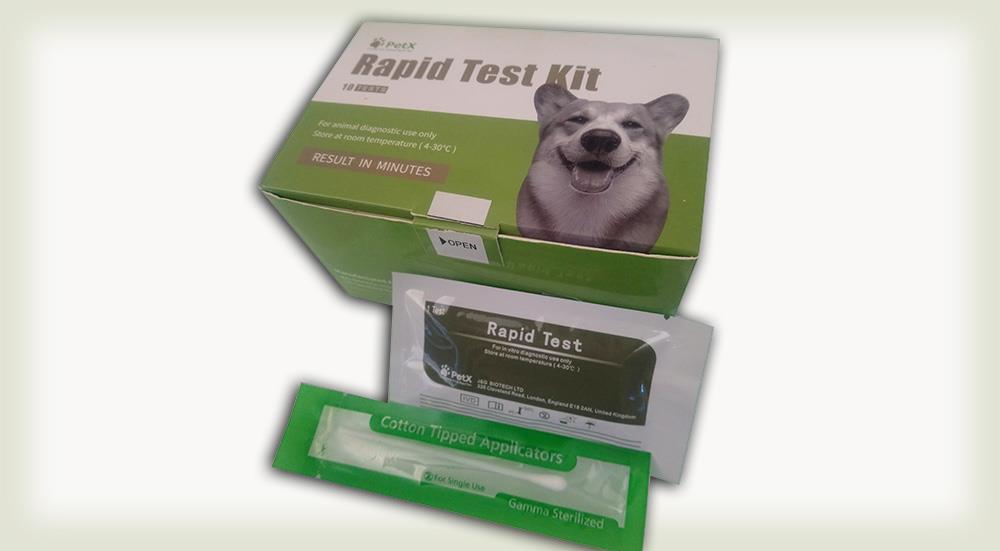 کیت تشخیص سریع پاروا ویروس سگ (CPV Ag)